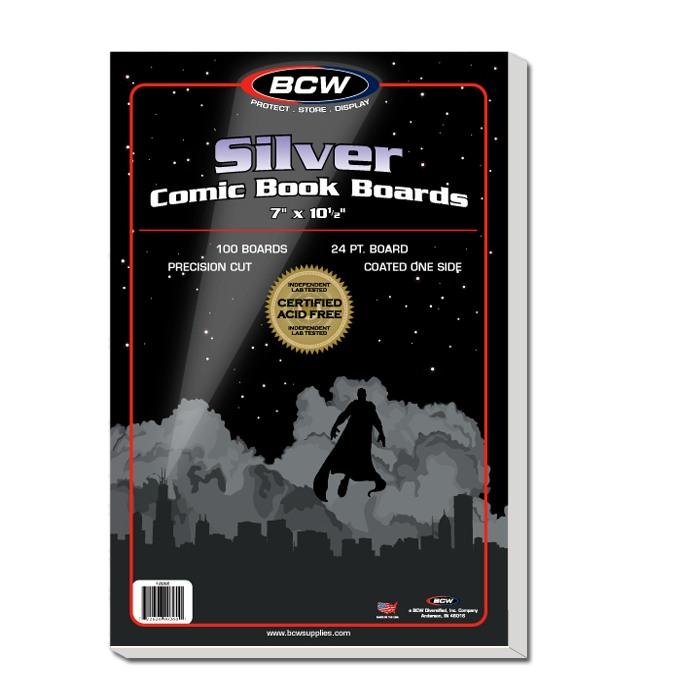 Comic Backing Boards: Silver