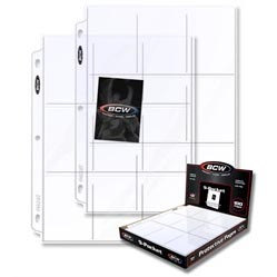 Pro 9-Pocket Page (100 Ct. Box)
