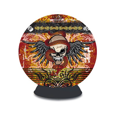 3D Puzzle Sphere: Skull Tattoo