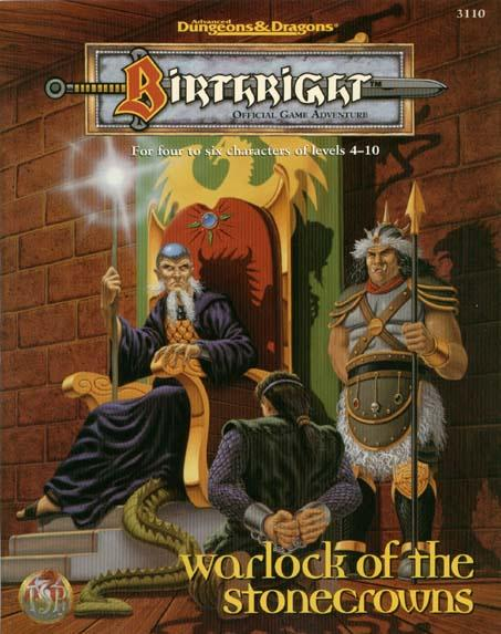 Dungeons and Dragons 1st ed: Birthright: Warlock of the Stonecrowns - Used