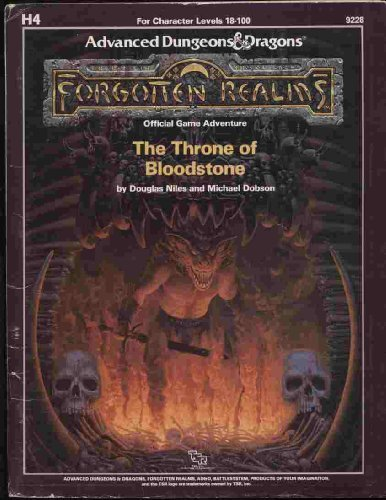 Dungeons and Dragons 1st ed: Forgotten Realms: The Throne of Bloodstone - Used