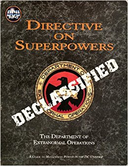 DC Universe RPG: Directive on Superpowers Declassified - Used