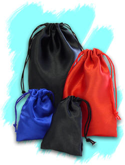 Dice Bag: Satin:  7.5 x 14 Inches Size