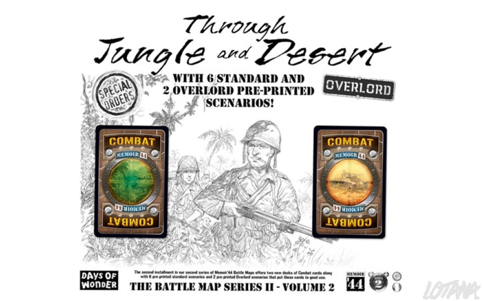Memoir 44: The Battle Map Series II-V2 Through Jungle and Desert