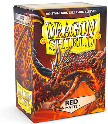 Sleeves: Dragon Shield: Matte Red: 100 Sleeves