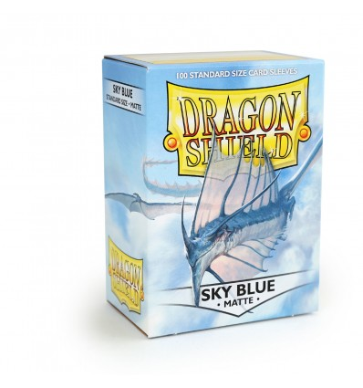 Sleeves: Dragon Shield: Matte Sky Blue: 100 Sleeves