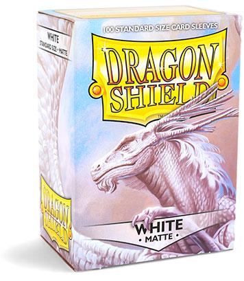 Sleeves: Dragon Shield: Matte White: 100 Sleeves