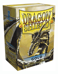 Sleeves: Dragon Shield: Gold: 100 Sleeves
