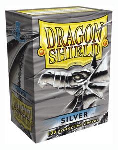 Sleeves: Dragon Shield: Silver: 100 Sleeves