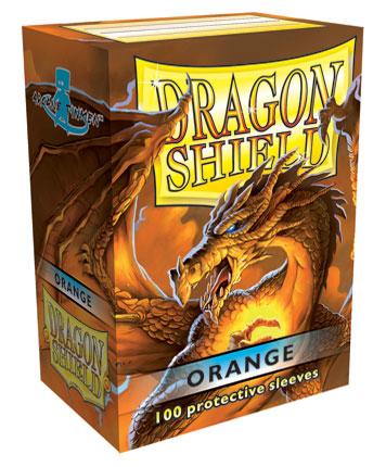 Sleeves: Dragon Shield: Orange: 100 Sleeves