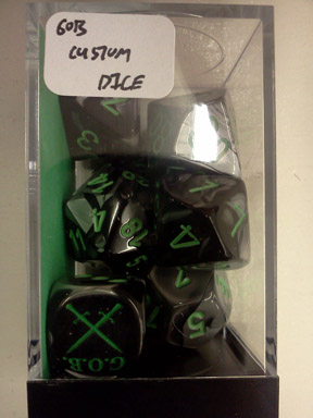 GOB Custom Dice Set: Gemini - Black-Grey/Green