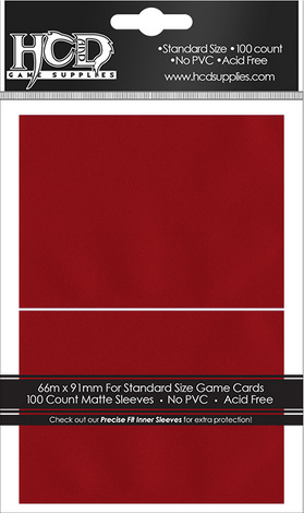 Deck Protector: Matte: Red (100): 96756