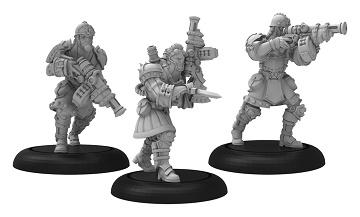 Warmachine: Khador: Assault Kommander Strakhov and Kommandos 33125