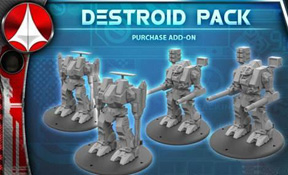 Robotech Tactics Role Playing: United Earth Defense Force Tomahawk/Defender Destroid Pack (4)