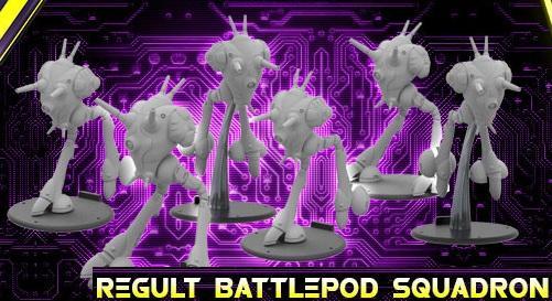 Robotech Tactics Role Playing: Zentraedi Armada Regult Battlepod Squadron
