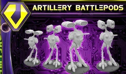 Robotech Tactics Role Playing: Zentraedi Armada Artillery Battlepods