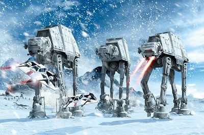 Star Wars: Hoth Battle Walkers Poster (24x36)