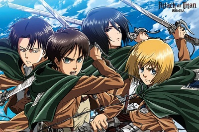 Attack on Titan: Four Swords Poster (24x36)