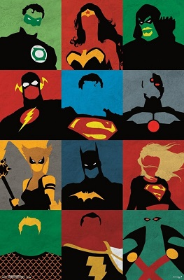Justice League: Minimalist Poster (22x34)