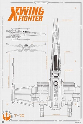 Star Wars: X-Wing Blueprint Poster (24x36)