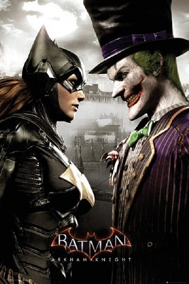 Batman: Arkham Knight: Batgirl and Joker Poster (24x36)