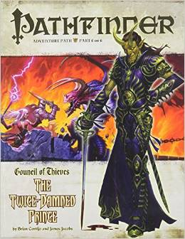 Pathfinder: Adventure Path: Council of Thieves: the Twice-Damned Prince - Used