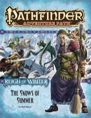 Pathfinder: Adventure Path: Reign of Winter: The Snows of Summer - Used