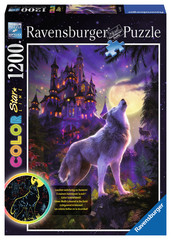 Moon Wolf 1200pc Puzzle: 16186