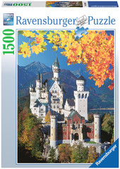 Neuschwanstein in Autumn 1500pc Puzzle: 16386