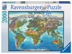 World Map 2000pc Puzzle: 16683