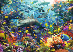 Colorful Underwater Kingdom 1000pc Puzzle: 19304