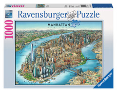 Manhattan Map 1000pc Puzzle: 19399