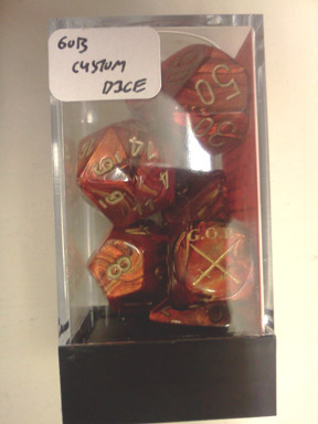GOB Custom Dice Set: Scarab - Scarlet w/Gold