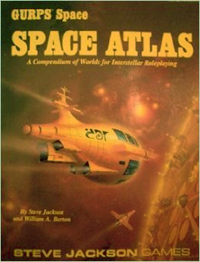 GURPS Space: Space Atlas: Compendium of Worlds for Interstellar Roleplaying - USED