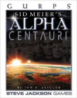 Gurps 1st Ed: Sid Meiers Alpha Centauri HC - Used