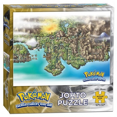 Puzzle: Pokemon: Johto Map