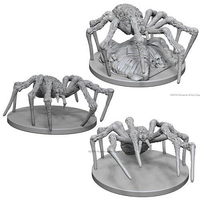 Dungeons and Dragons Nolzurs Marvelous Unpainted Minis: Spiders
