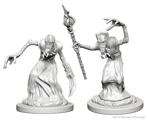 Dungeons and Dragons Nolzurs Marvelous Unpainted Minis: Mindflayers