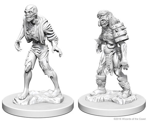Dungeons and Dragons Nolzurs Marvelous Unpainted Minis: Zombies