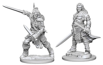 Pathfinder Deep Cuts Unpainted Minis: Human Male Fighter