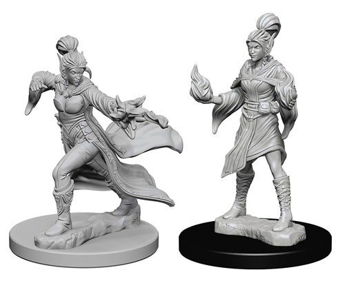 Pathfinder Deep Cuts Unpainted Minis: Elf Female Sorcerer