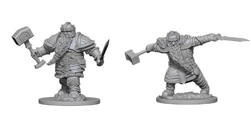 Dungeons and Dragons Nolzurs Marvelous Unpainted Minis: Dwarf Male Fighter