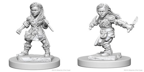 Dungeons and Dragons Nolzurs Marvelous Unpainted Minis: Halfling Female Rogue