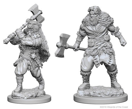 Dungeons and Dragons Nolzurs Marvelous Unpainted Minis: Human Male Barbarian