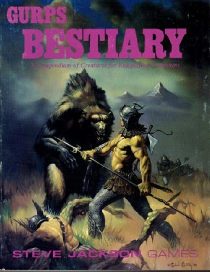Gurps 1st: Bestiary 1st Edition - Used