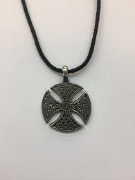 Circular Cross Necklace