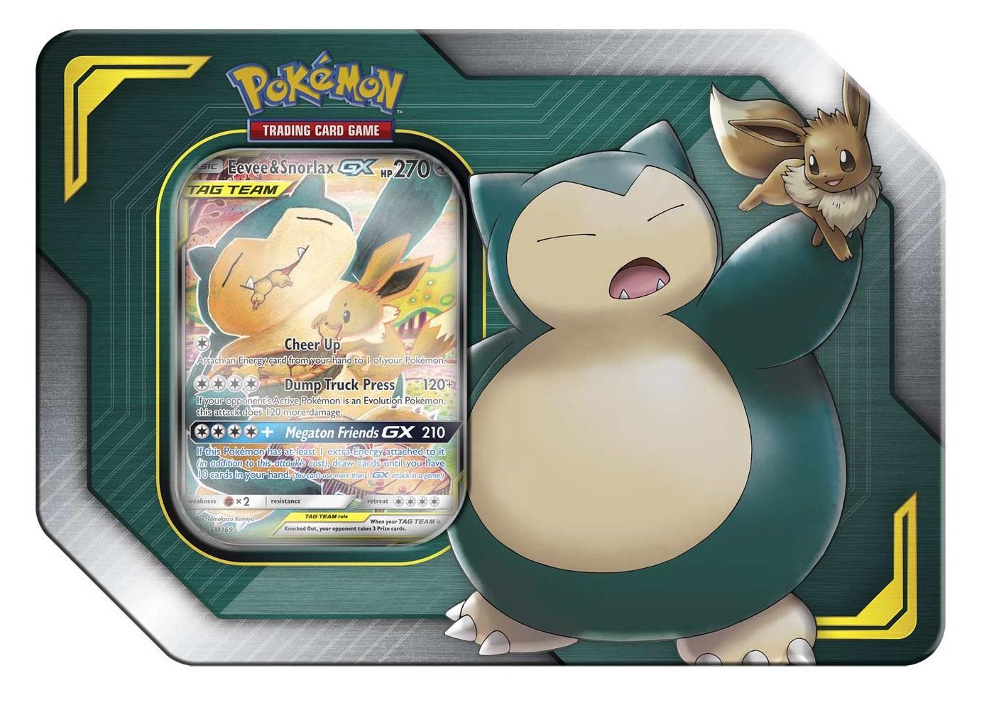 Pokemon TCG: Tag team Tin: Eevee and Snorlax