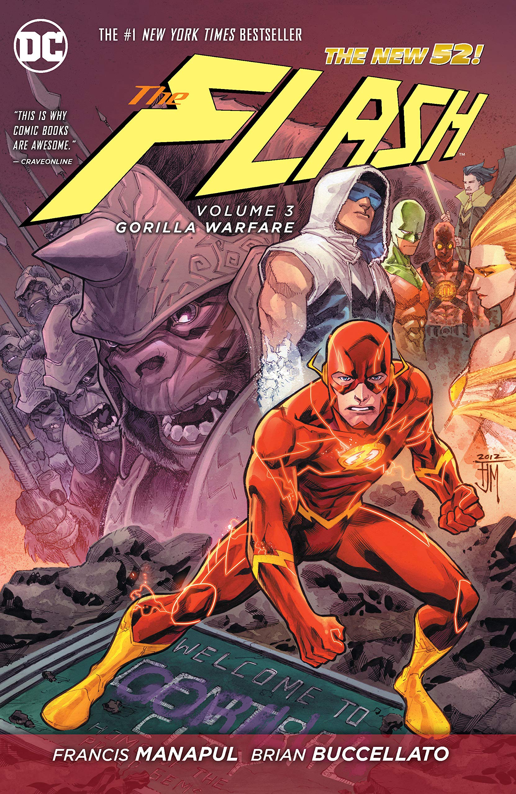 Flash: Volume 3: Gorilla Warfare HC - Used