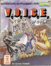 Adventure Supplement for Champions: Voice of Doom - USED