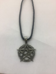 Pentagram with Moon Necklace